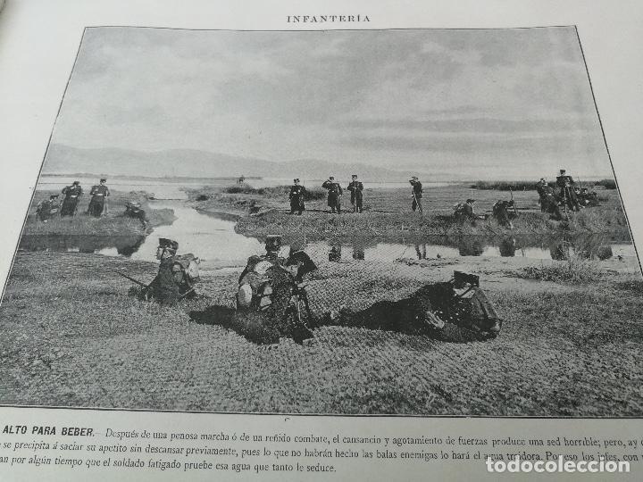 Militaria: ANTIGUO Y PRECIOSAS 16 AUTOTIPIAS DEL EJERCITO ESPAÑOL - 3er CUADERNO - COLECCION DE FOTOGRAFIAS INS - Foto 7 - 158944754