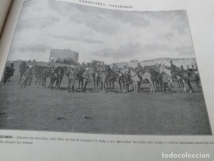 Militaria: ANTIGUO Y PRECIOSAS 16 AUTOTIPIAS DEL EJERCITO ESPAÑOL - 3er CUADERNO - COLECCION DE FOTOGRAFIAS INS - Foto 13 - 158944754
