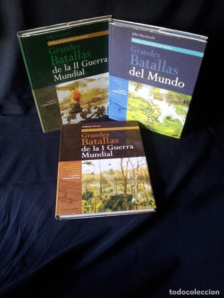 GRANDES BATALLAS - 3 TOMOS - EDITORIAL OPTIMA 2001 (Militar - Libros y Literatura Militar)