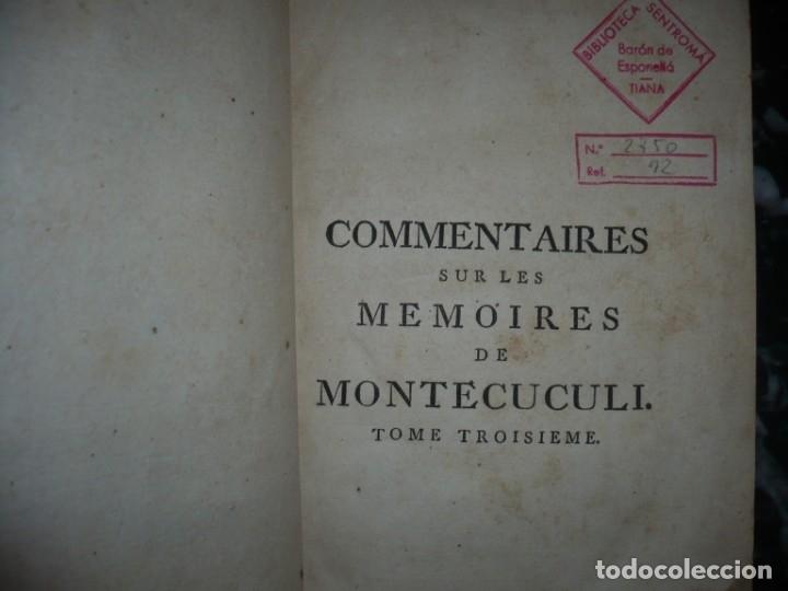 Militaria: MEMOIRES DE MONTECUCULI COMTE TURPIN DE CRISSE 1770 PARIS TOME 3º - Foto 2 - 160543382