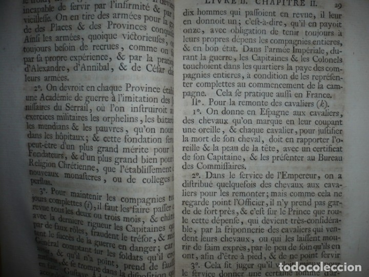 Militaria: MEMOIRES DE MONTECUCULI COMTE TURPIN DE CRISSE 1770 PARIS TOME 3º - Foto 8 - 160543382