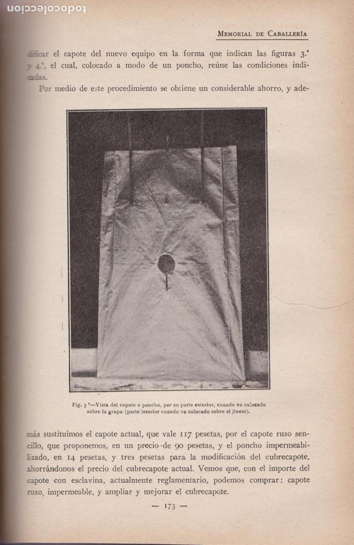 Militaria: Revista MEMORIAL DE CABALLERÍA- 1923 * CABALLOS * - Foto 3 - 160654410