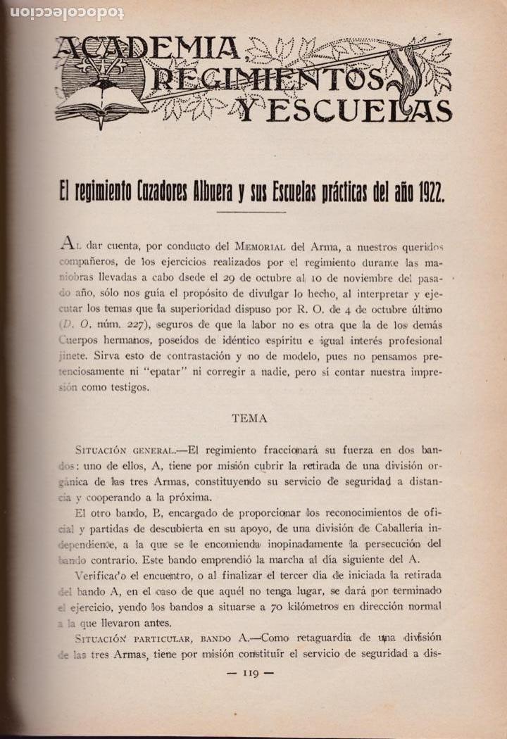 Militaria: Revista MEMORIAL DE CABALLERÍA- 1923 * CABALLOS * - Foto 4 - 160654410