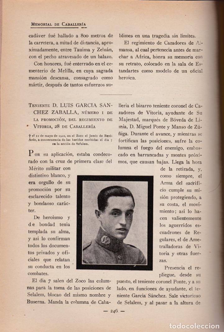 Militaria: Revista MEMORIAL DE CABALLERÍA- 1923 * CABALLOS * - Foto 5 - 160654410