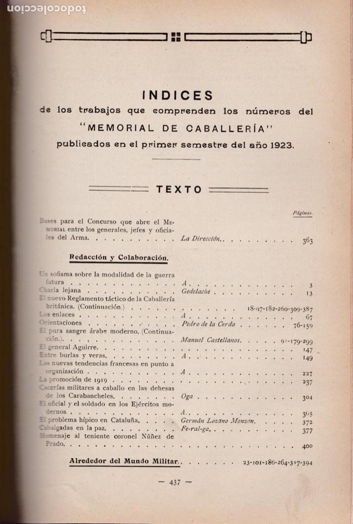 Militaria: Revista MEMORIAL DE CABALLERÍA- 1923 * CABALLOS * - Foto 11 - 160654410