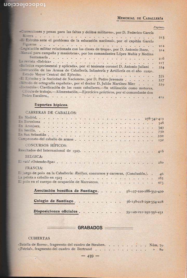 Militaria: Revista MEMORIAL DE CABALLERÍA- 1923 * CABALLOS * - Foto 13 - 160654410