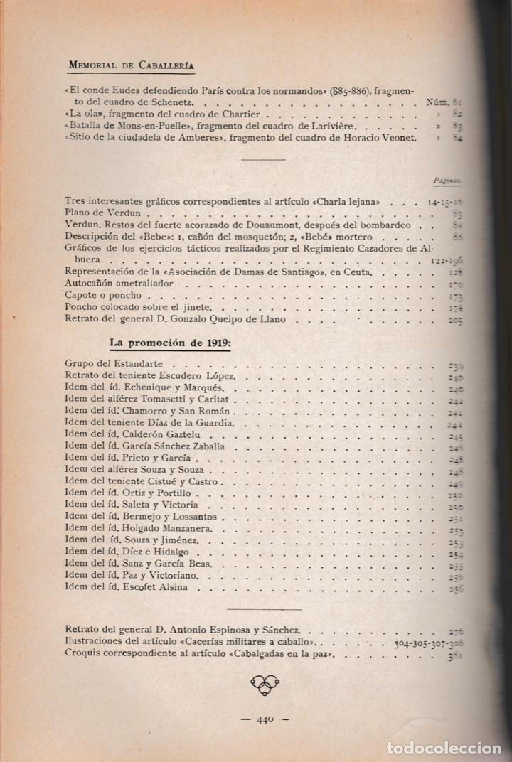 Militaria: Revista MEMORIAL DE CABALLERÍA- 1923 * CABALLOS * - Foto 14 - 160654410