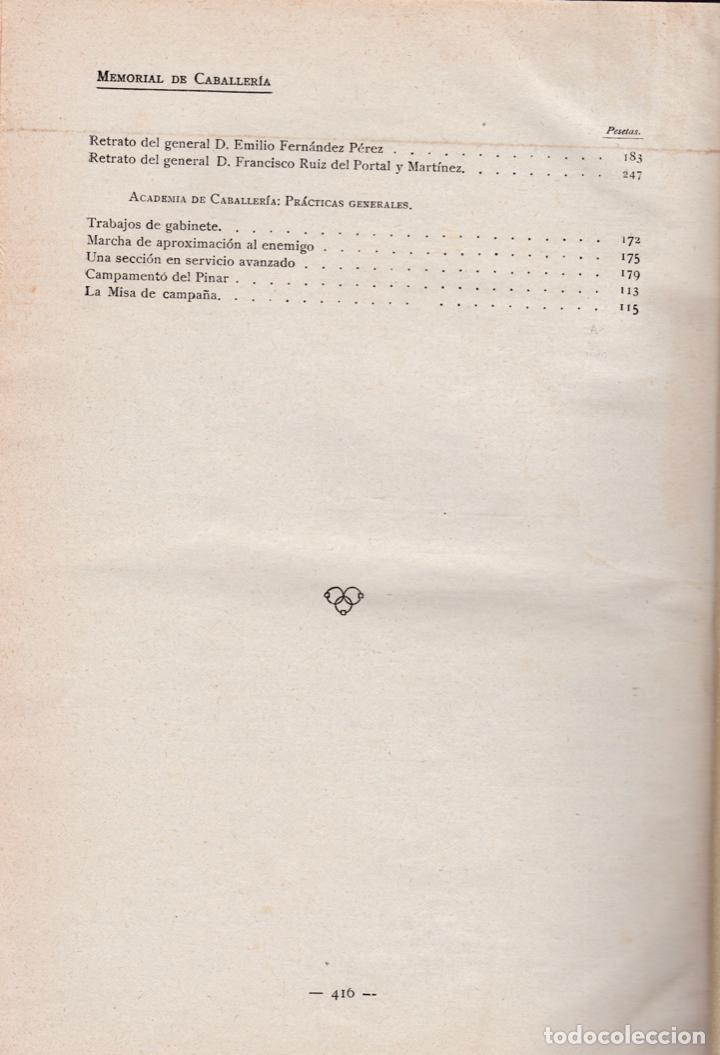 Militaria: Revista MEMORIAL DE CABALLERÍA- 1923 * CABALLOS * - Foto 18 - 160654410
