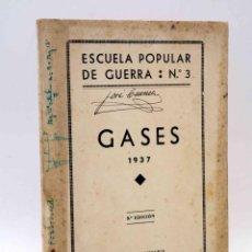 Militaria: ESCUELA POPULAR DE GUERRA Nº 3. GASES. HISPANIA, 1937. Lote 161807269