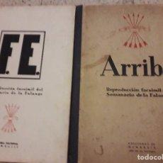 Militaria: FALANGE FACSIMIL DIARIO ARRIBA Y F.E. Lote 162375270