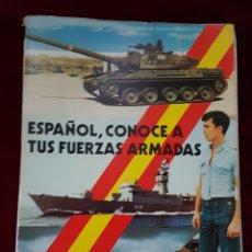 Militaria: LIBRO ESPAÑOL CONOCE A TUS FUERZAS ARMADAS 1976. Lote 162972346