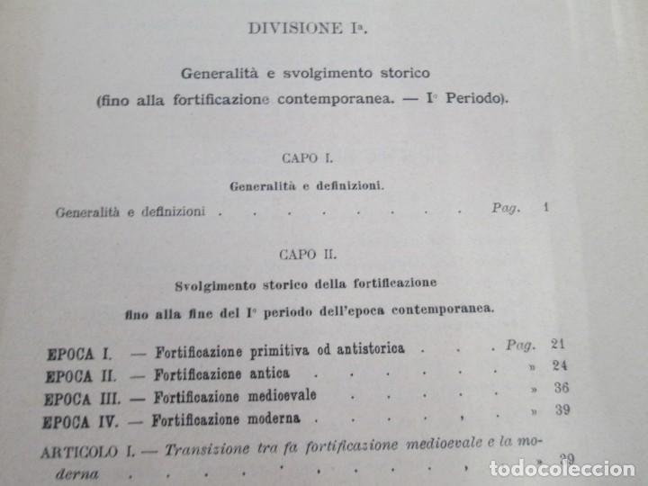 Militaria: FORTIFICAZIONE PERMANENTE CONTEMPORANEA. I Y II. TESTO Y ATLANTE. MARIANO BORGATTI. FORTIFICACIONES. - Foto 8 - 163076354