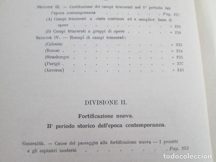 Militaria: FORTIFICAZIONE PERMANENTE CONTEMPORANEA. I Y II. TESTO Y ATLANTE. MARIANO BORGATTI. FORTIFICACIONES. - Foto 13 - 163076354