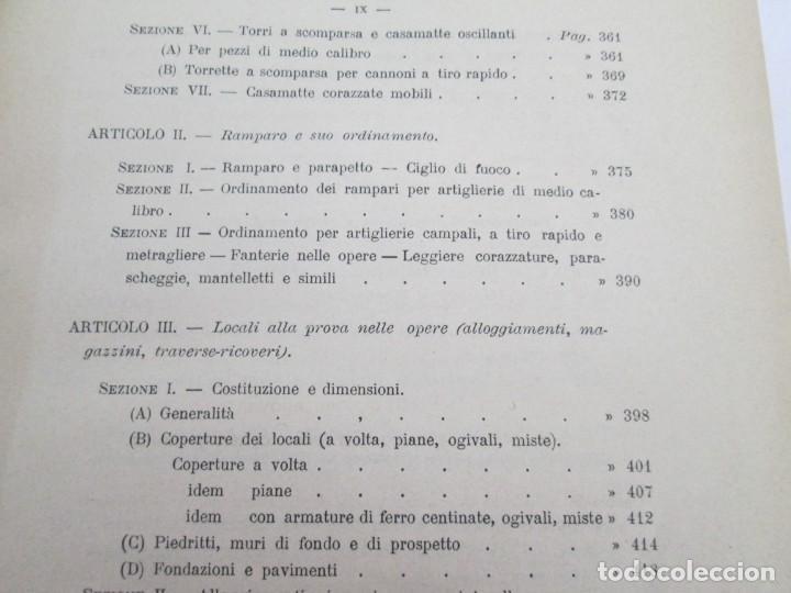 Militaria: FORTIFICAZIONE PERMANENTE CONTEMPORANEA. I Y II. TESTO Y ATLANTE. MARIANO BORGATTI. FORTIFICACIONES. - Foto 15 - 163076354