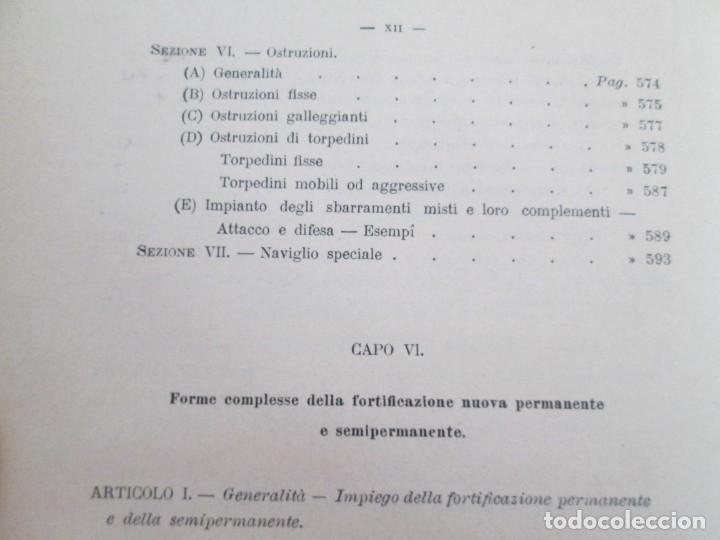Militaria: FORTIFICAZIONE PERMANENTE CONTEMPORANEA. I Y II. TESTO Y ATLANTE. MARIANO BORGATTI. FORTIFICACIONES. - Foto 21 - 163076354