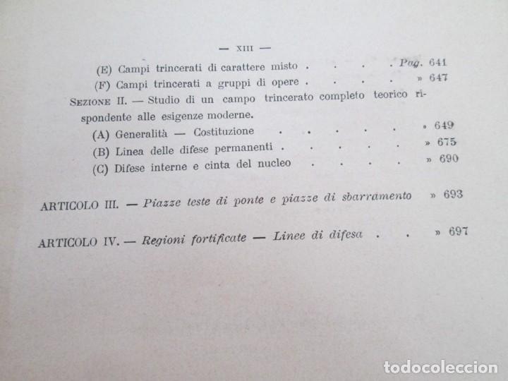 Militaria: FORTIFICAZIONE PERMANENTE CONTEMPORANEA. I Y II. TESTO Y ATLANTE. MARIANO BORGATTI. FORTIFICACIONES. - Foto 23 - 163076354