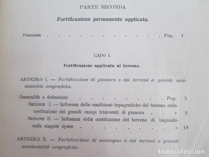 Militaria: FORTIFICAZIONE PERMANENTE CONTEMPORANEA. I Y II. TESTO Y ATLANTE. MARIANO BORGATTI. FORTIFICACIONES. - Foto 32 - 163076354