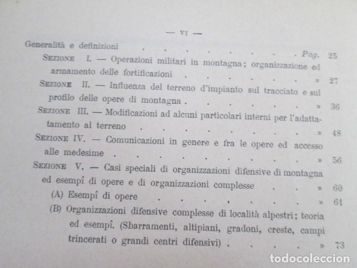 Militaria: FORTIFICAZIONE PERMANENTE CONTEMPORANEA. I Y II. TESTO Y ATLANTE. MARIANO BORGATTI. FORTIFICACIONES. - Foto 33 - 163076354