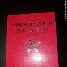 Militaria: CARNET COMUNISTA DE CHECOSLOVAQUIA.. Lote 163581021
