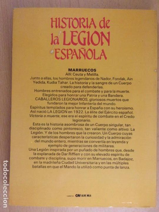 Militaria: HISTORIA DE LA LEGIÓN ESPAÑOLA / Carlos de Arce / 1984. editorial mitre - Foto 4 - 165087082