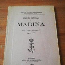 Militaria: REVISTA GENERAL DE MARINA. TOMO XXXI. 1892.. Lote 165323342