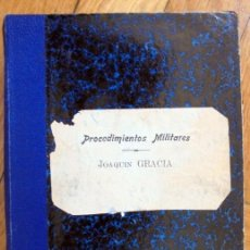 Militaria: JUSTICIA MILITAR.,PROCEDIMIENTOS. JOAQUIN GARCIA. Lote 165667190