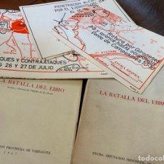 Militaria: EXCEPCIONALES EJEMPLARES DE LA BATALLA DEL EBRO CON TODOS LOS MAPAS. DIFICIL. Lote 165838930