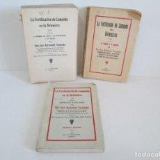 Militaria: LA FORTIFICACION DE CAMPAÑA EN LA DEFENSIVA. I-II-III. JOSE BARTOLOME FERNANDEZ. 1932/33. Lote 165870446