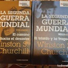 Militaria: WINSTON CHURCHILL. MEMORIAS. 2 VOLÚMENES . Lote 165903174