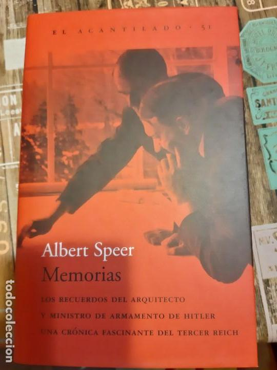 ALBERT SPEER. MEMORIAS (Militar - Libros y Literatura Militar)