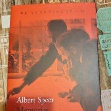 Militaria: ALBERT SPEER. MEMORIAS. Lote 165906438