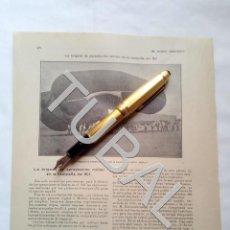 Militaria: TUBAL BRIGADA DE AEROSTACION MILITAR CAMPAÑA DEL RIF 2 HOJAS 1909 . Lote 166049082