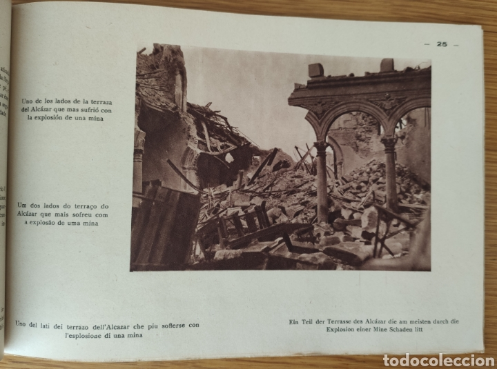 Militaria: GUERRA CIVIL ESPAÑOLA - ALCAZAR DE TOLEDO 1936 - EL MILAGRO DE TOLEDO - PROPAGANDA NACIONAL - CORUÑA - Foto 8 - 166678466