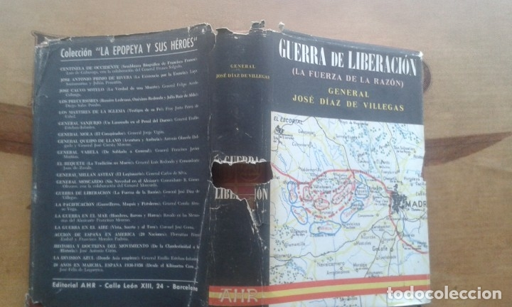 Militaria: GUERRA DE LIBERACIÓN (LA FUERZA DE LA RAZÓN)GENERAL JOSE DÍAZ VILLEGAS. GUERRA CIVIL - Foto 5 - 164637278