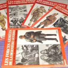 Militaria: 11 FASCICULOS - LES FORCES ARMÉES DE LA DERNIÈRE GUERRE . AÑO 1980.. Lote 168370976