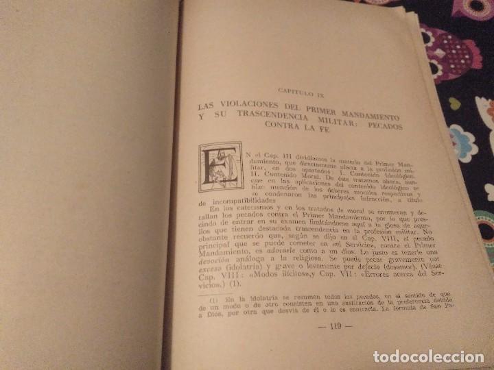Militaria: DEONTOLOGIA MILITAR POR EL TENIENTE CORONEL CAPELLAN D. MARIANO VEGA MESTRE EDICONES ARES 1947 - Foto 4 - 168386632