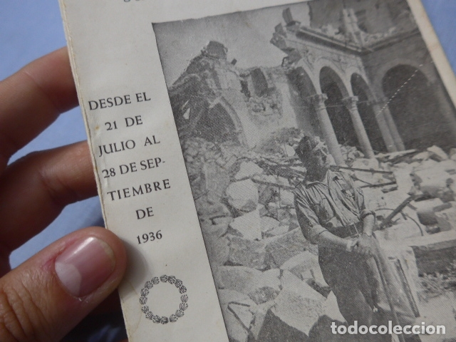 Militaria: * Antiguo libro de el alcazar de Toledo, guerra civil. ZX - Foto 2 - 168629740