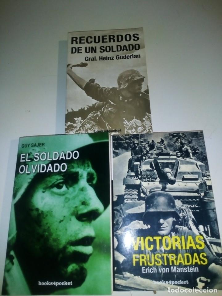 VICTORIAS FRUSTRADAS (VON MANSTEIN)- RECUERDOS DE UN SOLDADO (GUDERIAN)- EL SOLDADO OLVIDADO (SAJER) (Militar - Libros y Literatura Militar)