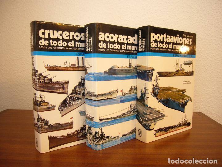 GINO GALUPPINI: ACORAZADOS/ CRUCEROS/ PORTAAVIONES DE TODO EL MUNDO (ESPASA-CALPE) PERFECTOS (Militar - Libros y Literatura Militar)