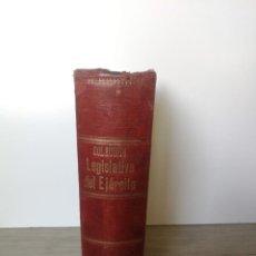Militaria: COLECCIÓN LEGISLATIVA DEL EJERCITO - 1891 - PARQUE INTENDENCIA VALLADOLID - DATOS, DIBUJOS, PLANOS, . Lote 169040404