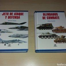 Militaria: BLINDADOS DE COMBATE + JETS DE ATAQUE Y DEFENSA - LIBSA. Lote 169096538
