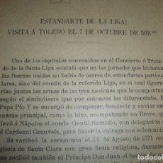 Militaria: ESTANDARTE DE LA LIGA VISITA A TOLEDO 1888 CESAREO FERNANDEZ DURO--DOCUMENTOS EN SIMANCAS. Lote 169138240