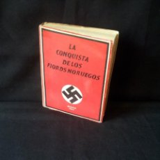 Militaria: GEORG VON HASE - LA CONQUISTA DE LOS FIORDS NORUEGOS - MATASELLO DE AGUILA, ADOLF HITLER III REICH. Lote 169227876