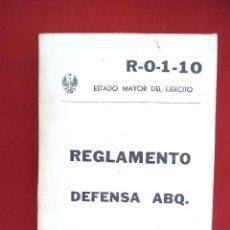 Militaria: REGLAMENTO DEFENSA ABQ. Lote 169240776