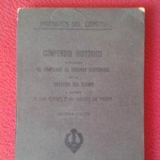 Militaria: ESPAÑA LIBRO INGENIEROS DEL EJÉRCITO COMPENDIO HISTÓRICO 1918 EN EL SEGUNDO CENTENARIO DE CREACIÓN. Lote 169488668