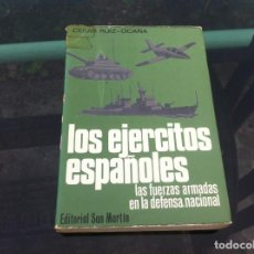 Militaria: CESAR RUIZ-OCAÑA. LOS EJÉRCITOS ESPAÑOLES. LAS FUERZAS ARMADAS.... ED. SAN MARTÍN, 1980. Lote 169730004