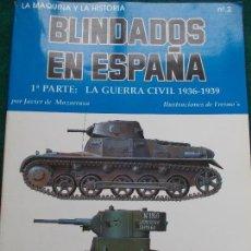 Militaria: BLINDADOS DE ESPAÑA LA GUERRA CIVIL 1936/1939. Lote 169875672