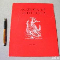 Militaria: LIBRO DE LA ACADEMIA DE ARTILLERÍA DE SEGOVIA. CURSO DEL1968 1969. Lote 169877700