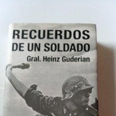 Militaria: RECUERDOS DE UN SOLDADO - HEINZ GUDERIAN. Lote 170425648
