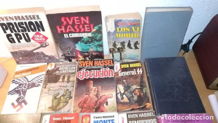 Militaria: LOTE DE 14 LIBROS COLECCION DEL AUTOR SVEN HASSEL - Foto 2 - 170432188